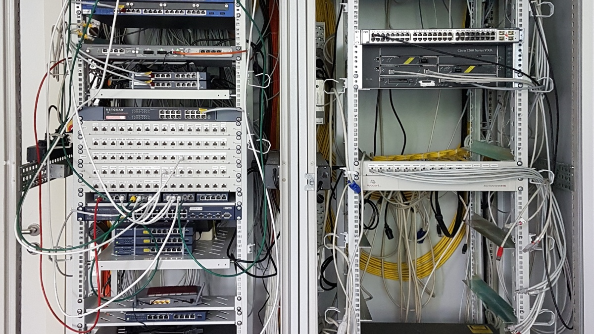 Rack in the network lab