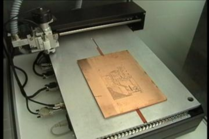 image of a circuit board plotter